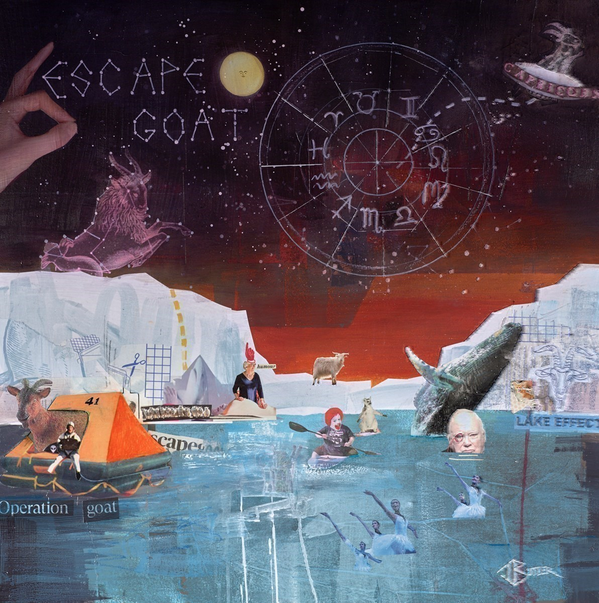 E-scapegoat by Tom Butler -  sized 30x30 inches. Available from Whitewall Galleries